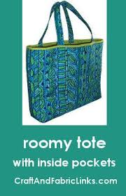 58 best prequilted bags images on Pinterest | Pre quilted fabric ... & Free sewing pattern for roomy tote bag made from prequilted fabric. Has  inside pocket and Adamdwight.com