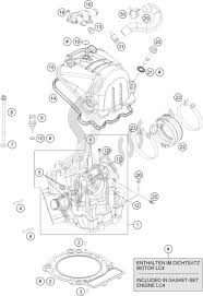 Cylinder head ktm 690 duke orange abs 2016 eu
