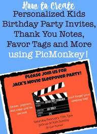 How To Create Kids Birthday Party Invitations Thank You