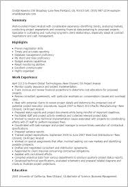 Projects On Resume Project Analyst Resume Template Best Design Tips Myperfectresume