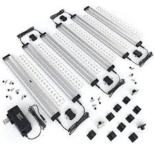 cabinet lighting 6. EShine 6 Panels 12 Inch LED Under Cabinet Lighting, Hand Wave Activated -  Deluxe Kit Cabinet Lighting T