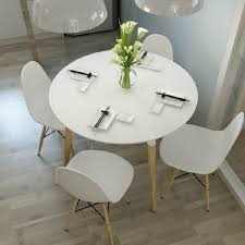 image of eames style dsw white round dining table inside white round dining table diy