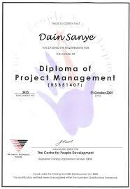 of project management diploma of project management