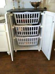 laundry basket cabinet plans from ana white