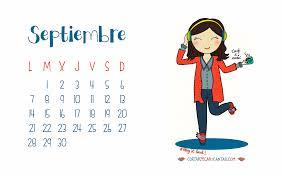 Calendario Ilustrado Septiembre 2015 Cortar Pegar Y Cantar
