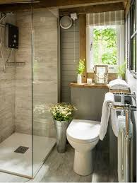 Inspiration for a small rustic master gray tile and ceramic tile light wood  floor and gray