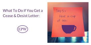 a cease desist letter