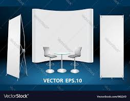 office furniture trade shows. blank trade show booth display vector image office furniture shows