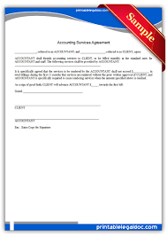 printable accounting services agreement sample printable printable accounting services agreement sample printable legal forms