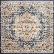 cau roosevelt dark blue 7 0 x 7 0 square rug