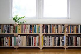 long low bookcase. Simple Low Perfect Cool Simple Nice Compact Under Window Bookcase With Small Wooden  Made Concept And Has Two Levels Storage Many Books Throughout Long Low Bookcase O