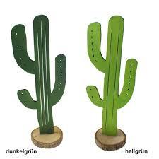 Kaktus Holz Ca H25xb9cm Holzscheibe Fensterdeko Sommer Deko Mexiko