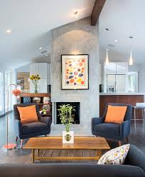 venetian plaster fireplace with floor lamp family room contemporary and contemporary decorative pillows