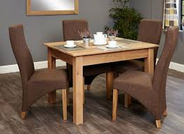 image baumhaus mobel. Baumhaus Mobel Oak Dining Set With 4 Full Back Upholstered Chairs Image