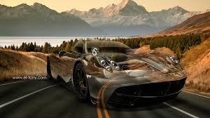 pagani huayra crystal nature road car