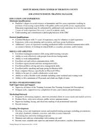 Training Manager Cover Letter Examples Job And Resume Template