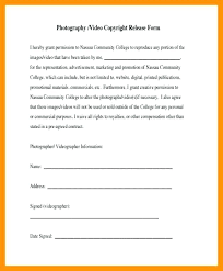 Photographer Release Forms