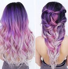 Purple Hair Style purple ombre hair beauty fantasy unicorn purple violet red cherry 5078 by wearticles.com