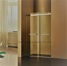china hr 021 d straight frameless double sliding shower door china shower enclosure sliding door