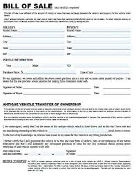 Bill Of Sale For Car Nc Bill Of Sale For Car Nc Sample 2180