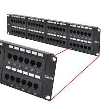 cat5 cat5e utp 48 port network lan patch pane tektel Cat 5 Plug Wiring Diagram at Cat5 Patch Panel Wiring Diagram