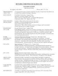 Cover Letter Chronological Order Resume Template Reverse