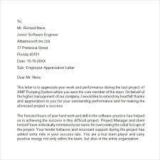 Employee Performance Letter Sample Letter Of Appreciation For Employee Performance Magdalene