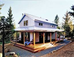 relaxing metal building cabin with wrap around porch with plans cabin plans with wrap around porch