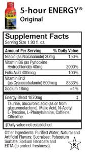 here to view 5 hour energy supplement facts and ings p