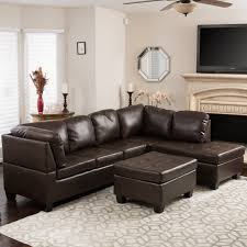 canterbury 3 piece pu leather sectional sofa set by christopher knight home