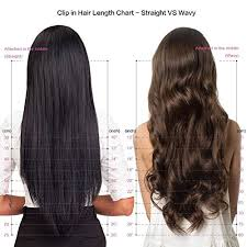 Clip In Hair Extension Length Chart Ombre Remy Clip In Human Hair Extensions Afro Kinky Curly 4b