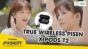 True Wireless PISEN X pods T2 - YouTube
