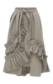 Kika Vargas Ruffle Embellished <b>A-Line</b> Wrap Skirt (с ...