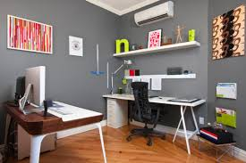 grey home office. Nick Keppol\u0027s Grey But Colourful Home Office M