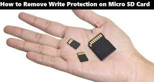 how to remove write protection from