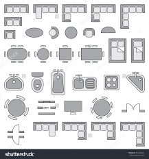 floor plan furniture symbols bedroom. Standard Furniture Symbols Used In Architecture Plans Icons Set, Graphic Design Elements, Gray Isolated On White Background, Vector Illustration. Floor Plan Bedroom A