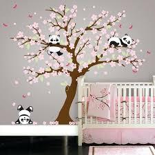 tree wall art panda bear cherry blossom tree wall decal tree wall art uk  on panda wall art uk with tree wall art wooden pine tree wall art taobaochina