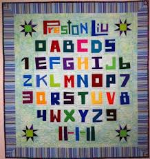 106 best quilts with words and letters images on Pinterest ... & Fabulous alphabet sampler baby quilt made Adamdwight.com