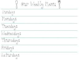 Meal Planning Calendar Template Free Archives Online Planner