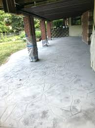colored concrete patio stamped and under deck water drainage retaining wall siding roofing contractor cost uk