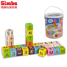 sin pa toy building blocks enlightenment assembling building blocks alphabet blocks barrels beech wood green paint