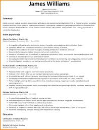 Sample Of A Medical Assistant Resume Example Of Resume For Medical Assistant Fishingstudio 21