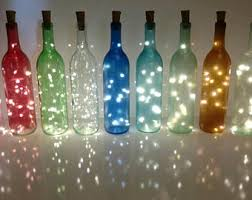 Wine Bottle Lights - Wine Bottle Decor - Wine Light Fixture - Bottle Lights  - Firefly