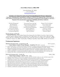 Project Management Resume Examples Free Resume Example And