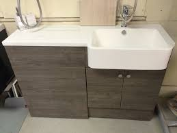 bathroom sink furniture. Dark Chestnut Bathroom Furniture With Integral Resin Basin \u0026 Countertop Sink K
