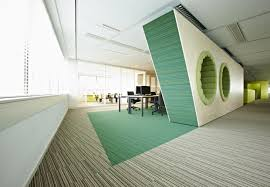 awesome office designs. Awesome Office Interior Designs Arranged Simply To Give Different Look With Small : Modern Fantastic Green 3