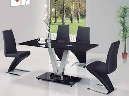chairs wildwoodsta cool dining table black glass beste ideer om black glass dining table p