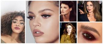 makeup trends 2018 matte brown 90s style