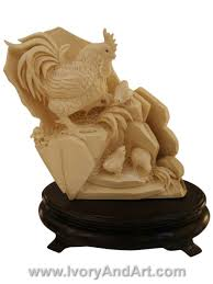buy now netsuke mammoth ivory carved ivory at ivoryandart com mammoth ivory carving rooster chicks