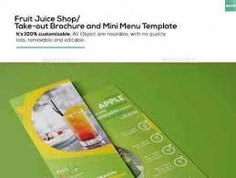Take Out Menu Template 1704275 Fruit Juice Shop Take Out Brochure And Mini Menu